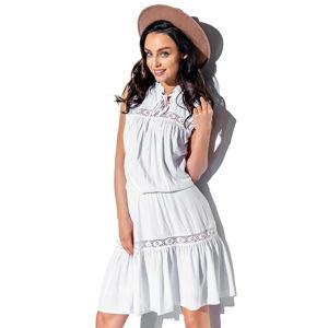 Bílé šaty L333