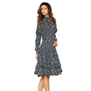 Černo-bílé šaty L269