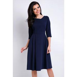 Tmavě modré šaty A157
