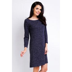 Tmavě modré šaty A162