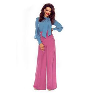Světle fialové kalhoty Elegance