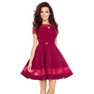 Vínové šaty Bianca