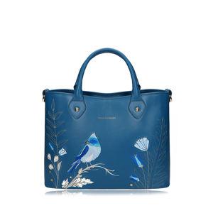 Modrá vyšívaná kabelka do ruky Klementínka II Aurora Dive
