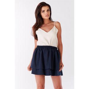 Tmavě modrá sukně A179