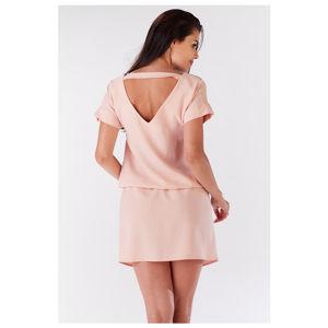 Světle růžové šaty A178