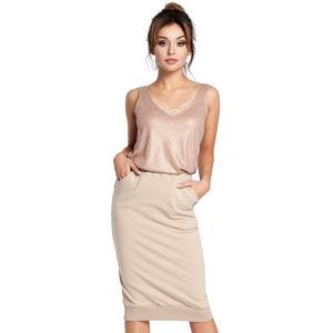 Béžová sukně BE 031
