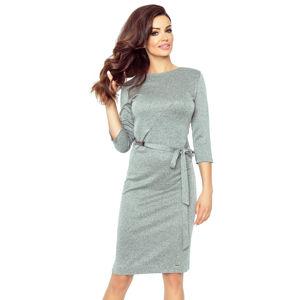Tmavě šedé šaty Ppeppi