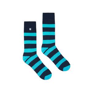 Modré ponožky Stripes