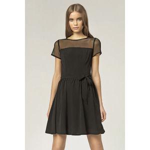 Černé šaty S44