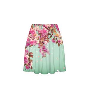Růžovo-mátová sukně CP-013 221