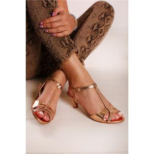 Růžovozlaté sandály Georgine