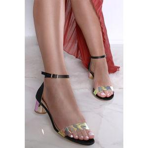 Černé sandály Rhona