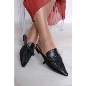 Černé pantofle Kerri