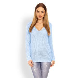 Světle modrý pulovr 40006