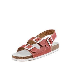 Dámské cihlovobílé sandály 026462