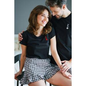 Černý krátký pyžamový set PM4239