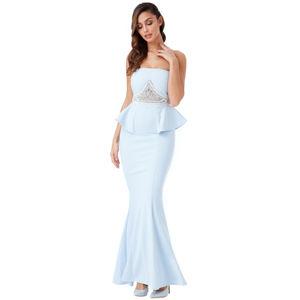 Světle modré šaty Gloria
