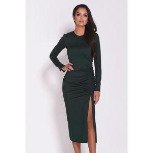 Tmavě zelené šaty Malaga