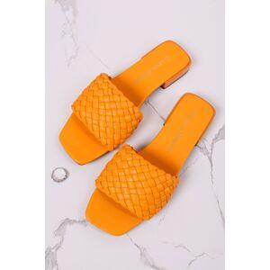 Oranžové propletané sandály Salome
