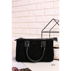 Černá kožená kabelka 86393