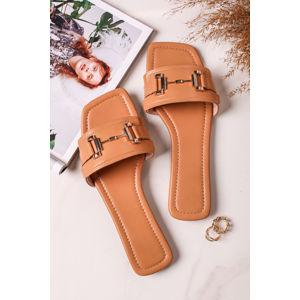 Světle hnědé pantofle Grete