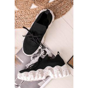 Černé textilní tenisky Maurice