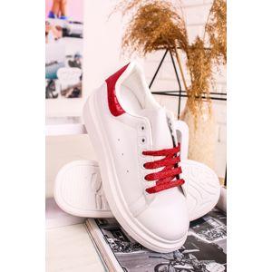 Červeno-bílé nízké tenisky Vinny