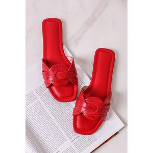 Červené nízké pantofle Bea