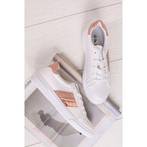 Růžovo-bílé nízké tenisky Teisha