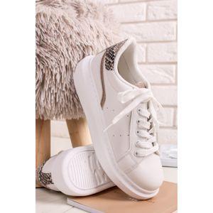 Bílo-zlaté nízké tenisky Avarra