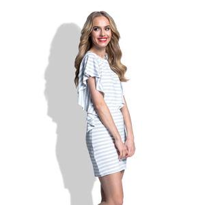 Šedo-bílé šaty Fimfi I181