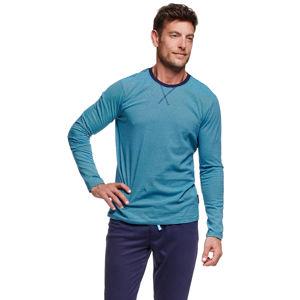 Pánské modro-tyrkysové pyžamo Verve