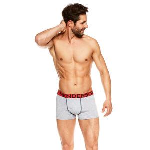 Pánské šedo-červené boxerky Jack - dvoubalení