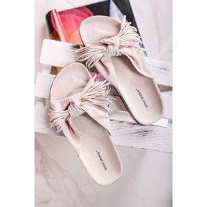 Béžové pantofle Alie