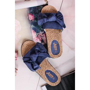 Modré pantofle Liliana