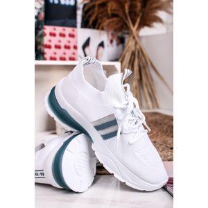 Bílo-modré textilní tenisky 49956