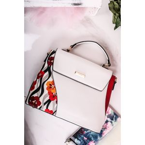 Bílá vzorovaná kabelka Nancy