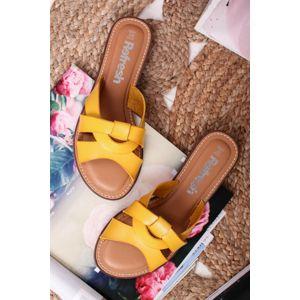 Žluté pantofle 72247