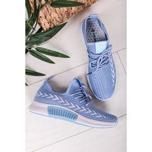 Modré textilní tenisky Nadia