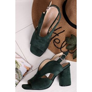Tmavě zelené sandály Lavane