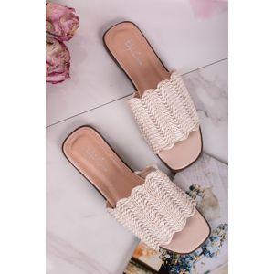 Béžové pantofle Claira