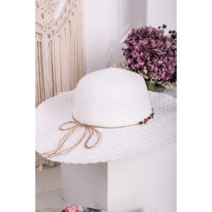 Bílý klobouk Camilla