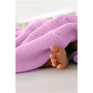 Dětská růžová deka K002 90x90cm