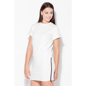 Smetanové šaty K349