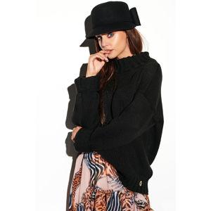 Černý pulovr LS265