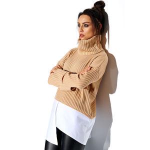 Béžový pulovr LS263