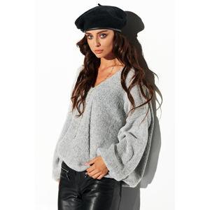 Světle šedý pulovr LSG111