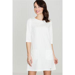 Smetanové šaty K316
