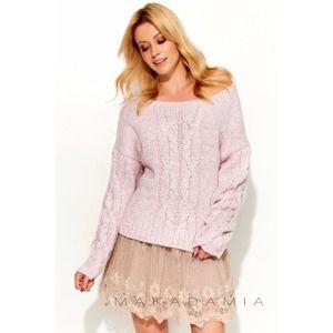 Světle růžový pulovr S52