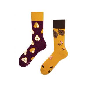 Hnědo-žluté ponožky Pear Pair